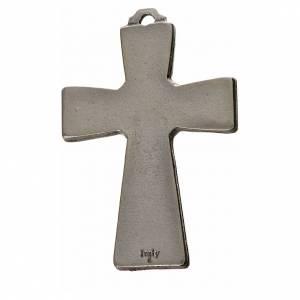 Metall Kreuzanhänger: Kreuz heiligen Geist Zama Metall schwarzen Emaillack 5x3,5cm