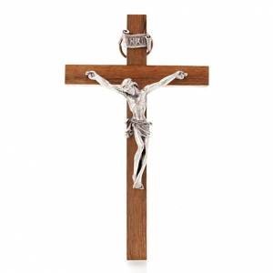 Kruzifixe aus Holz: Kruzifix Holz schlau 12 x 7 Zentimeter