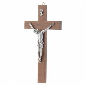 Kruzifixe aus Holz: Kruzifix Nuss-Holz Koerper aus Metall