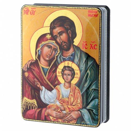 Lacca russa cartapesta Nascita Gesù Cristo Maestro Ignoto Fedoskino style 15x11 s2
