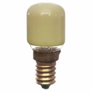 Lampada 15W gialla E14 per illuminazione presepi s1