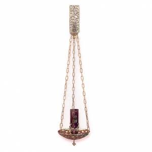 Lampada a sospensione Santissimo ottone dorato 18 cm s1