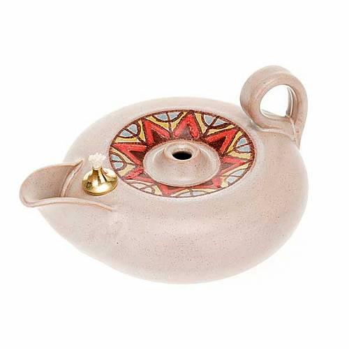 Lampada votiva ceramica s8