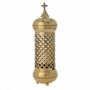 Lámpara Santísimo Sacramento latón trabajado a mano Monjes Atelier Belén s1