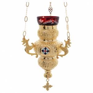 Lampe de Très-Saint-Sacrement orthodoxe 19x9 cm s1