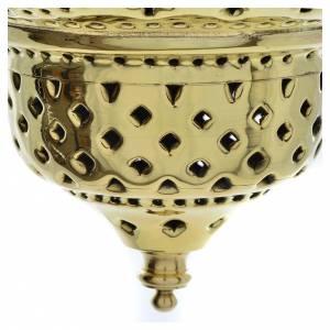 Lampe orientale en laiton Moines Bethléem h 28 cm s5