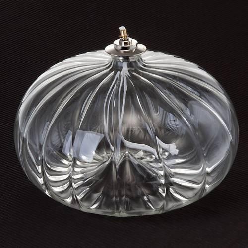 Lampe votive de grande taille en verre soufflé s2