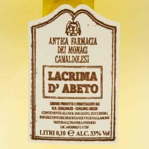 Liqueurs, Grappa, Spiritueux: Larme d'Abies, petite bouteille 100 mlCamaldoli