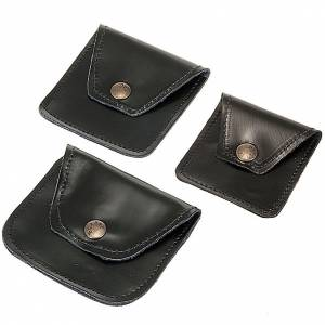 Rosary cases: Leather rosary case black