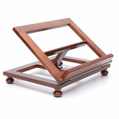 Leggio da tavolo legno noce 35x28 cm s3