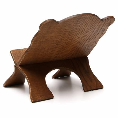 Leggio tavolo frassino scuro semplice Monaci Betlemme s3