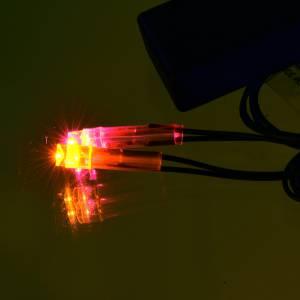 Lichter und Laterne für Krippe: Lichte fuer Krippe: Led-Feuer mit Batterie