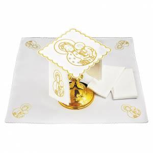 Linge d'autel lin Vierge à l'Enfant s1