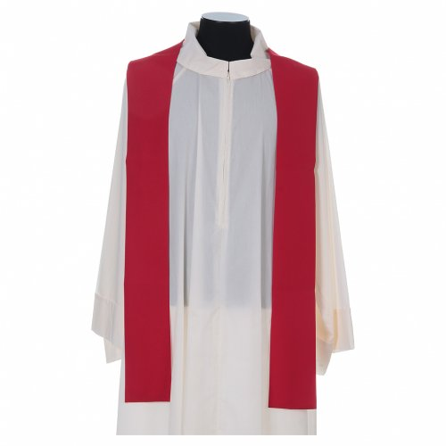 Liturgical chasuble with cross, grapes and lamp s7