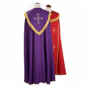 Liturgical cope with gold crosses embroideries s2