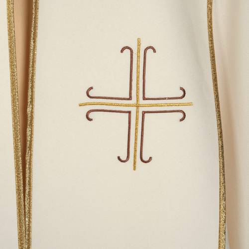 Liturgical cope with stylized crosses s2