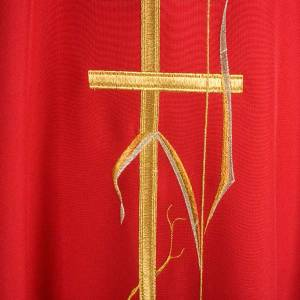 Liturgical vestment with gold ear of wheat, various colors s6
