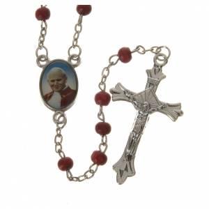 Livre avec chapelet Le Saint Rosaire Jean-Paul II ITALIEN s5
