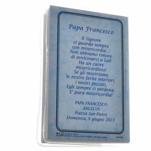 Livre Saint Rosaire Pape François 6,5x9,5cm IT s5