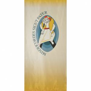 Tapestries: STOCK Logo Jubilee of Mercy LATIN printed on fabric 135x300cm