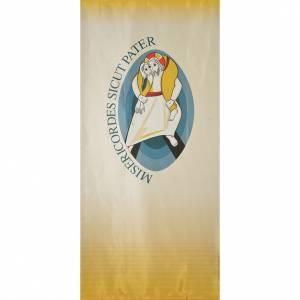 Accesorios varios liturgia: STOCK Logo Jubileo de la Misericordia sobre tejido 135x300 cm estampa LATÍN