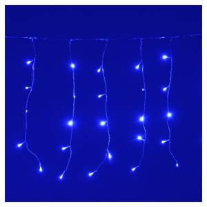 Luce di Natale tenda luminosa 160 led ESTERNO blu s2