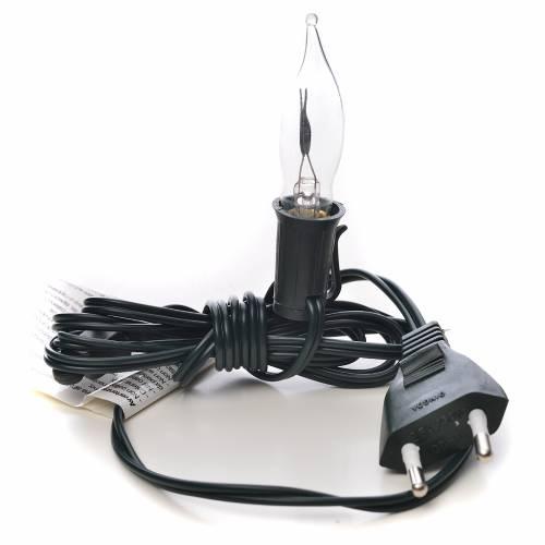 Luce fiamma bianca a corrente 1,5m cavo s3