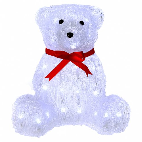 Luce natalizia orso 40 Led interno esterno h. 27 cm s1
