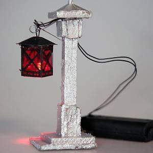 Lampione led per presepe 14 cm s2