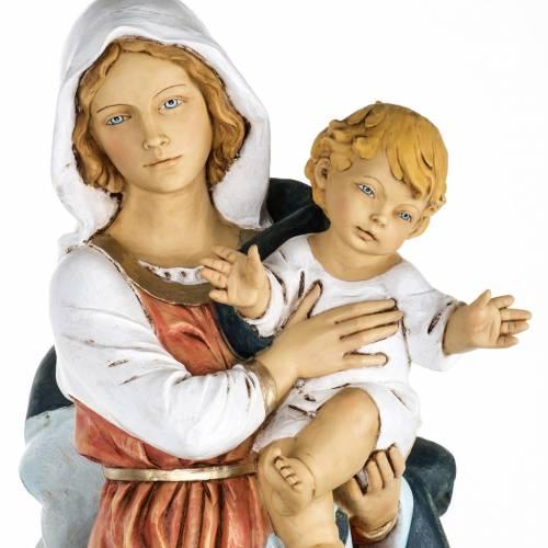 Madonna con bambino 100 cm resina Fontanini s2