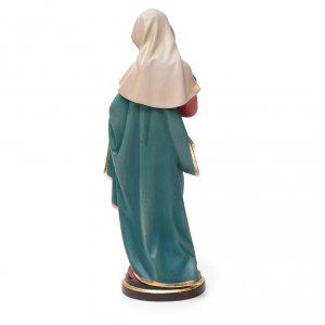 Statue in legno dipinto: Madonna con bimbo legno colorato Valgardena