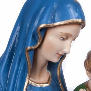Madonna Consolata 80 cm marmo sintetico colorato s5