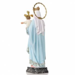 Statue in legno dipinto: Madonna del Rosario 40 cm pasta di legno dec. elegante