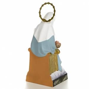 Statue in legno dipinto: Madonna della Divina Provvidenza 20 cm dec. fine