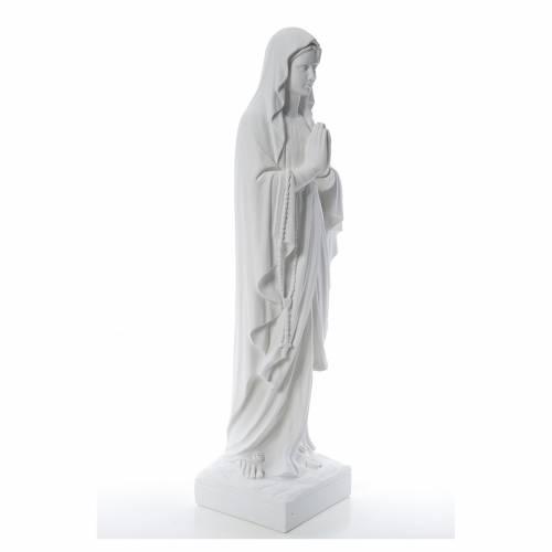 Madonna di Lourdes 100 cm marmo bianco s4