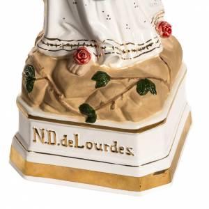Madonna di Lourdes 50 cm ceramica decori oro s4
