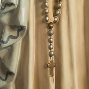 Madonna Lourdes 120 cm pasta legno occhi cristallo dec. elegante s5