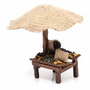 Magasin crèche avec parasol et olives 16x10x12 cm s2