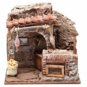 Maisons, milieux, ateliers, puits: Magasin des oeufs pour crèche 10 cm