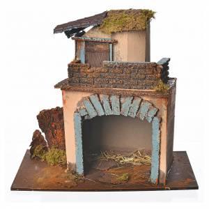 Maison avec balcon orange 28x15x27 cm s1