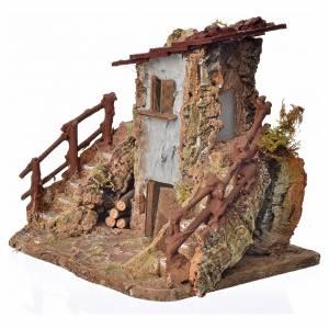 Maison de campagne en miniature avec escalier 19x19x16 s3