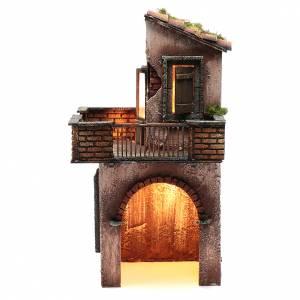 Crèche Napolitaine: Maison en bois pour crèche napolitaine 41x22x20 cm