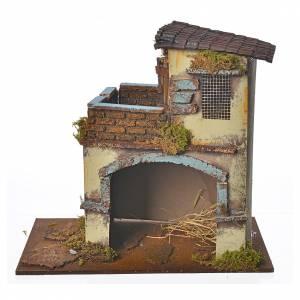 Maison jaune avec balcon 28x15x27 cm s1