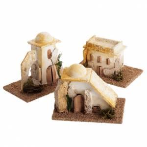 Maisons, milieux, ateliers, puits: Maisons arabes en miniature pour crèche Noel