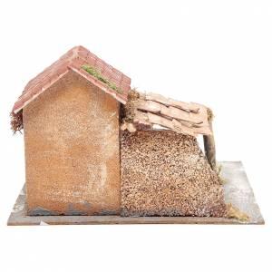 Maisons en liège et résine crèche Naples 20x28x26 cm s4