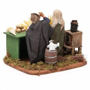 Man making pasta with stall, Neapolitan nativity figurine 12cm s3