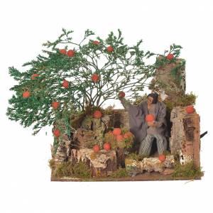 Man picking oranges, 12cm animated nativity s1