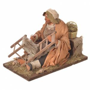 Man repairing chairs, 30cm Animated Neapolitan nativity s3