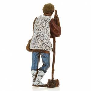 Nativity Scene by Moranduzzo: Man with walking stick, nativity figurine, 8cm Moranduzzo