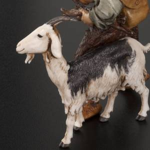 Krippenfiguren: Mann mit Ziege und Hut Moranduzzo 13 cm